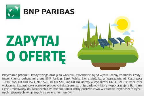 BNP-Paribas leasingi i kredyty na instalacje fotowoltaiczne